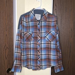 Free People Tops - Free People | We the Free | Flannel | Blues & Brwn